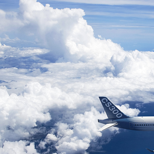 picture of clouds and cs300 tail