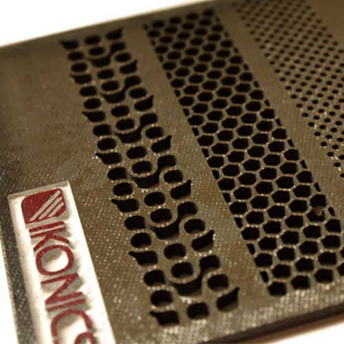Ceramic material featuring variable perforation size and shape | Precision Abrasive Machining®